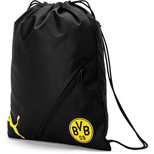 PUMA BVB Liga Gym Sack Turnbeutel, Black-Cyber Yellow, UA