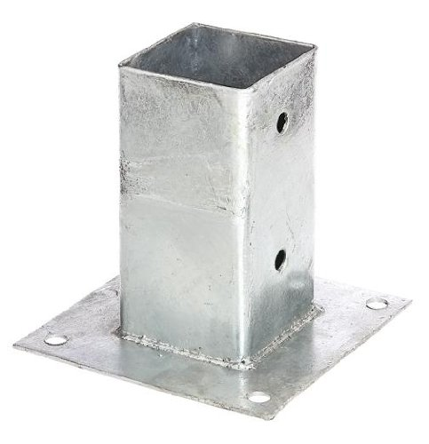 GAH-Alberts 211615 Aufschraubhülse für Vierkantholzpfosten - feuerverzinkt, 71 x 71 mm