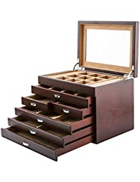 Organizadores y cajas para joyas Caja de exhibición de colección de caja de joyería de madera
