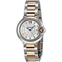 Cartier - Reloj de pulsera mujer, acero inoxidable, color plateado