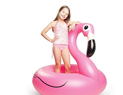 LALA IKAI Aufblasbarer Flamingo Schwimmring Luftmatratzen Schwimmreifen Pool Party Riesen 120cm/90cm (M)