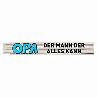Zollstock mit Spruch: Opa der Mann der alles kann!