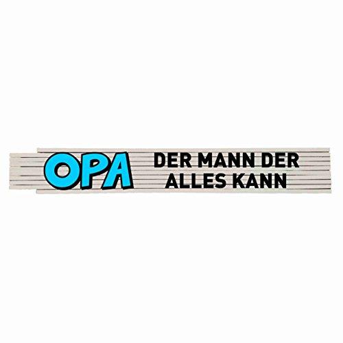 Preisvergleich Produktbild Zollstock mit Spruch: Opa der Mann der alles kann!