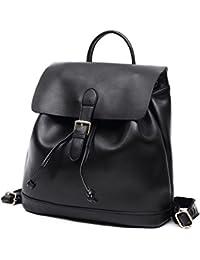 Echt Leder Kordelzug Rucksack Damen Casual Schulrucksack Laptop Schultertasche Groß Tasche für Frauen Mädchen