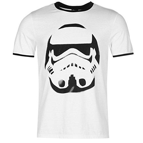 Character Herren Kurzarm T Shirt Kurzarm Rundhals Grafik Print Freizeit Star Wars