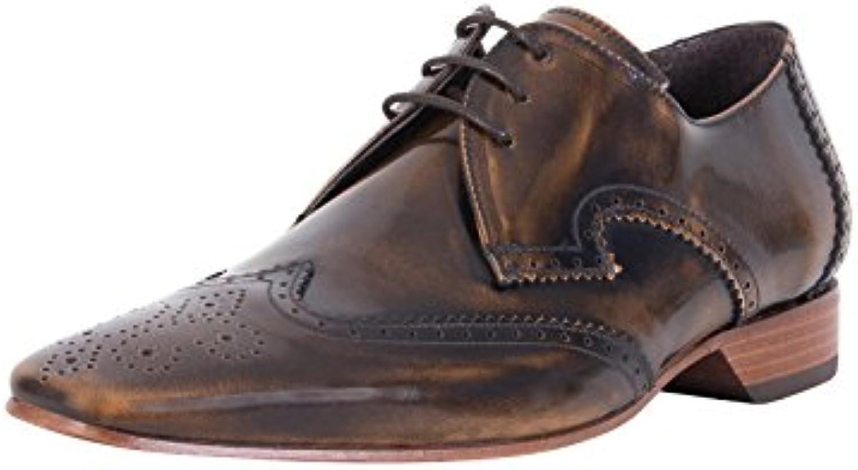 Jeffery West Herren Polierte Schuhe  Braun
