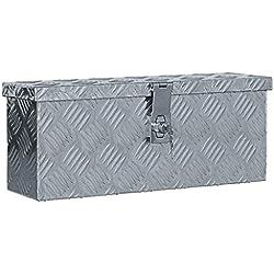 vidaXL Boîte en Aluminium Argenté Chariot à Outils Caisse à Outils Atelier