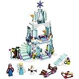 Frozen Elsa's Sparkling Ice Castle Doll House 299 Pieces Building Block Lego Style Set Action Figures Play Set Toy For Kids