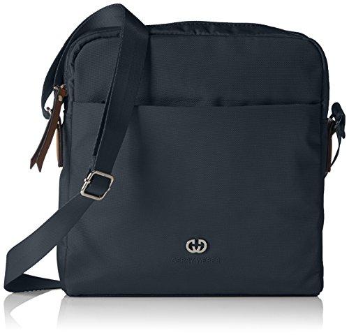 GERRY WEBER Lemon Mix II Shoulder Bag V, M 4080003530 Damen Schultertaschen 24x25x5 cm (B x H x T), Blau (402) (Hobo Handtasche Nylon)