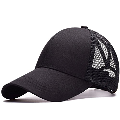 b038a49a125f0 Amkun Ponytail Baseball Cap Hat Ponycaps Messy Ponytail Adjustable Outdoor Mesh  Cap Trucker Dad Hat for