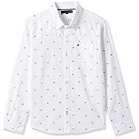 Tommy Hilfiger Boy's Flag Oxford Long Sleeves Shirt, White, 6 Years