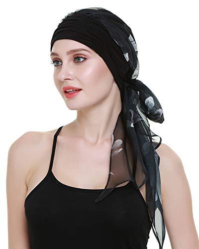 FocusCare Chemo - mützen für Frauen Leichter Krebs schal weiblicher Kopf auf Lange Haare. -