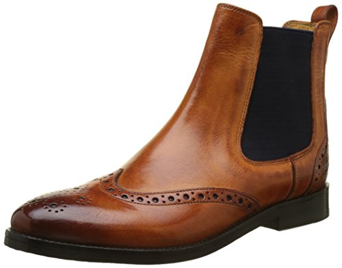 Melvin & Hamilton Damen Amelie 5 Chelsea Boots, Orange (Classic W Orange\Elastic Navy\LS BRW.), 38 EU