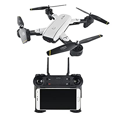 MML Helicopter Toys SG700 Quadcopter Drone 2.4Ghz 4 CH 360° Hold WiFi 2.0MP Optical Flow Dual Camera