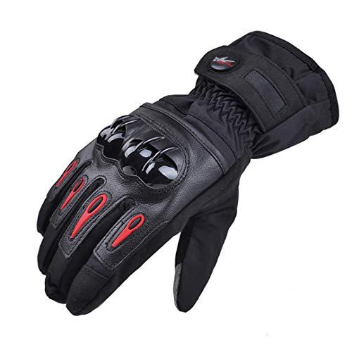 Herren Winter Touchscreen Moto wasserdichte Motorradhandschuhe Frau Radfahren Schutzhandschuh Black M
