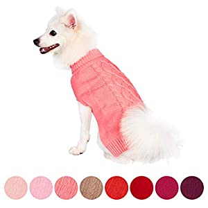 Blueberry-Pet-20-Colors-Wool-Blend-or-Acrylic-Classic-Cable-Knit-Dog-Jumper