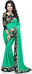 Lovisa Fashion Georgette saree with blouse piace (GS01_Freesize_saree _with_blouse)
