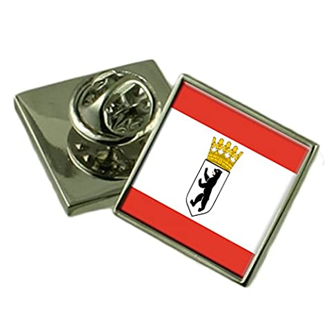 Berlin City Germany Flag Lapel Pin Badge Pouch