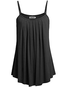 Jinglive Verano Mujer Fashion Slim Cuello Redondo Playa Mini Vestido de Tirantes Corto Vestidos Club Fiesta Casual...