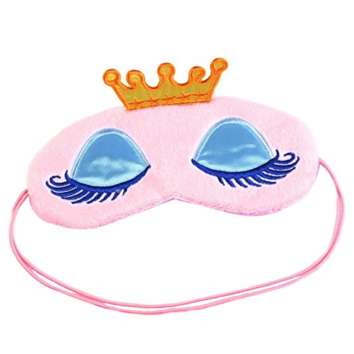 LATH.PIN Schlafmaske Weich Frauen Herren Kinder Lustig Schlafmaske Rosa Plüsch Augenmaske