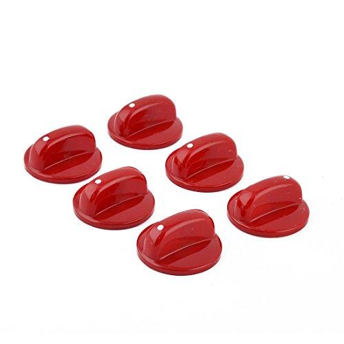 Preisvergleich Produktbild sourcingmap® 6Stk Haus Küche Plastik Gas Herd Schalter Knopf Kontroller Rot