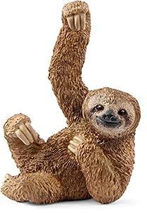 Schleich- Sloth Figura Animal, Color marrón (14793)