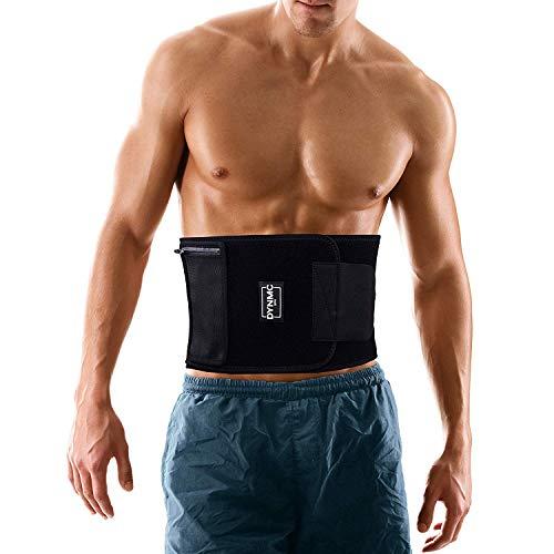 DYNMC you Fitness-Gürtel Damen & Herren, Bauchweg-Gürtel und Schwitzgürtel mit Abnehmbarer Handy Hüfttasche, Waist Trainer kaschiert Bauch & Taille, Bauchgurt zur Rücken Stabilisierung