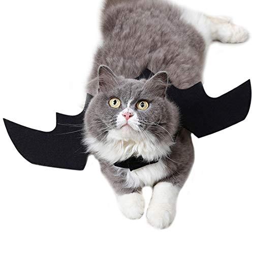 VICTORIE Haustier Kostüm Kleidung Fledermaus Halloween Feiertag Karneval Cosplay Party für Hunde Katze ()