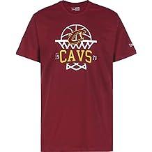 A NEW ERA Era NBA League Net Logo tee Clecav Camiseta, Hombre, Dark Red