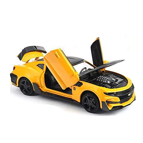 YZH 1:32 Proportion Chevrolet Comal Alloy Auto Modell, Trägheit Pullback-System inspiriert Hands-on Fähigkeit Hummel Pull Back Tür Spielzeug (Farbe: gelb) (Stormtrooper-modell-kit)