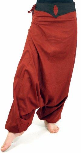 Leichte Haremshose Pluderhose Pumphose Aladinhose / Pluderhosen und Aladinhosen Rot