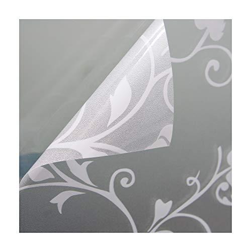 Beyond Drape Fensterfolie Verschiedene Größen und Motive Sichtschutzfolie Milchglasfolie Transparent statisch Tendril Weiss 90x200 cm