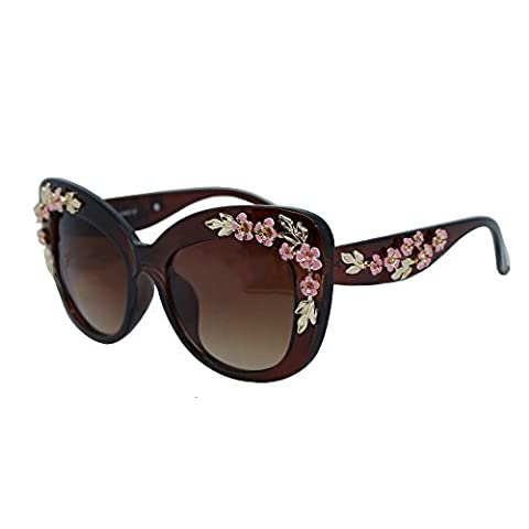 Women Girl Retro Outdoor Large Frame UV400 Oversized Cateye Sunglasses Eyewear, Red