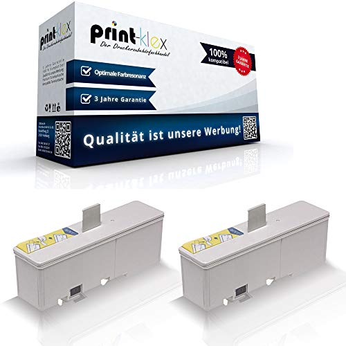 2x Kompatible Tintenpatronen für Epson TMJ 7000 TMJ 7500 TMJ 7500 p TMJ 7500 Series TMJ 9000 C33S020407 SJIC8 Black Schwarz - Office Plus Serie -