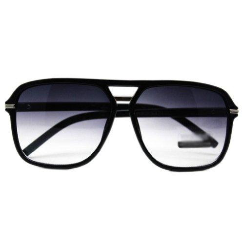 Tägliche Square Frame Sunglasses Black Frame Gradient Lens Brillen