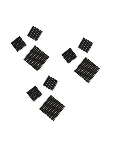 com-four-set-de-3-pasivo-aluminio-disipadores-de-calor-edicion-negro-en-diferentes-tamanos-para-rasp