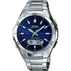 Casio Wave Ceptor Reloj Analógico/Digital de Cuarzo para Hombre con Correa de Correa De Acero Macizo – WVA-M640D-2AER