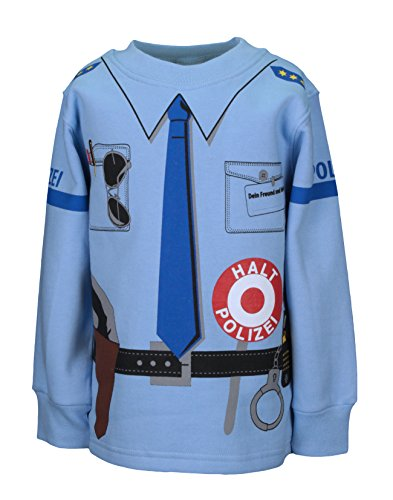Kinder Uniform Sweat Polizei blau 92 bis 146 (110/116)