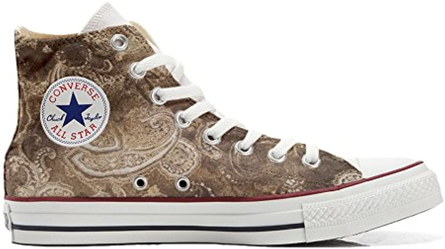 Converse All Star Zapatos Personalizados Unisex (Producto Handmade) White Cat with Blue Eyes -