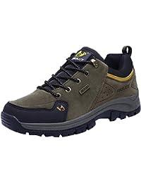 Kinlene Zapatos de Senderismo para Hombres Zapatos para Escalar Zapatos de Trekking al Aire Libre Zapatos Casuales de montaña