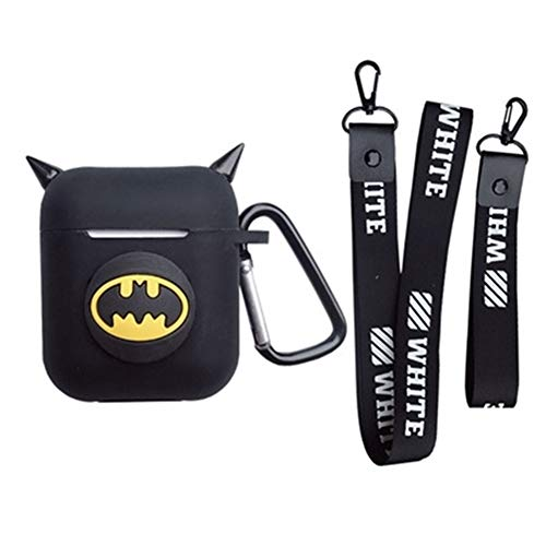 on Silicone The Avengers Case Protective Holder Bag for AirPods Apple Headset Accessories(Batman1) ()