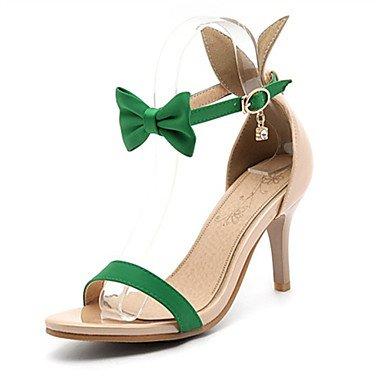 LvYuan Da donna-Sandali-Matrimonio Ufficio e lavoro Formale Serata e festa-Comoda-A stiletto-Materiali personalizzati Finta pelle-Nero Verde Red