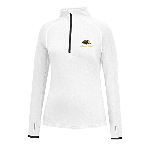 J America NCAA Frauen 'S Script Logo Power Durch Poly 1/2Zip Jacke, Damen, Power Through 1/2 Zip, Southern Mississippi Golden Eagles, Medium -