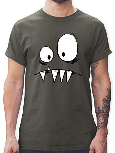 Karneval & Fasching - Monster Kostüm - XL - Dunkelgrau - L190 - Herren T-Shirt und Männer - Lustig Mann Kostüm