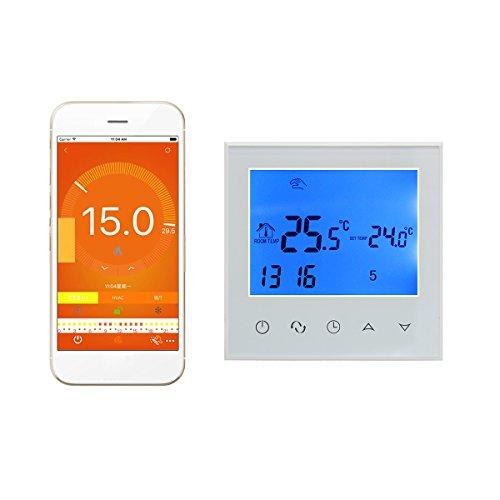Wifi termostato inteligente controlador digital programable inalambrico por smartphone APP pantalla tactil 16A programador semanal