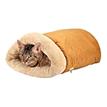 Pet Magasin Self Warming Cat Cave Bed with 4-Way Cat Hideaways