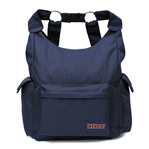 ENKNIGHT Fashion Rucksäcke Nylon Handtasche Schulter Taschen Casual Tagesrucksack Schultasche, Kinder Damen Mädchen, Purplish Blue - Ds Medikament