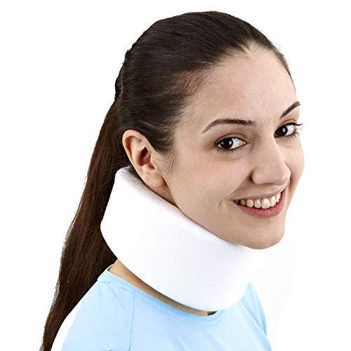 Orthopädische Nackenstütze (PhysioRoom Nackenbandage Nackenstütze - zur Linderung von Schmerzen bei Schleudertrauma, Nackensteifheit, Verspannungen der Muskulatur | Memory Foam Material für optimalen Tragekomfort Mittel)