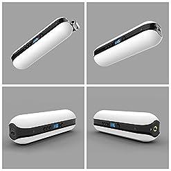 150PSI Pompa d'aria elettrica Compressore portatile mini Gonfiatore con LCD digitale LED Luce ricaricabile Li-ion 12V per tutti i tipi di Biciclette Moto e altre palline Anello di nuotata bianco