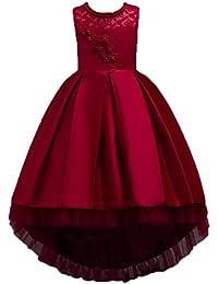 Vestido de Fiesta para niñas Vestido de Dama de Honor de Fiesta de Princesa Formal Vestido de niña de Las Flores Fiesta de cumpleaños de los niños ❤️ Manadlian